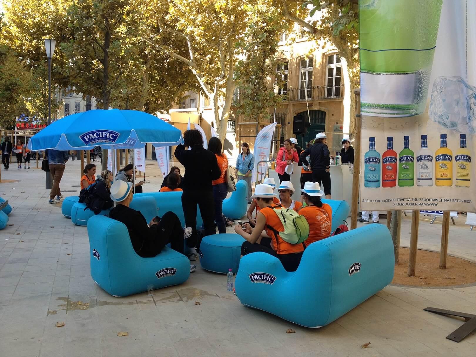 marketing evenementiel fauteuil gonflable