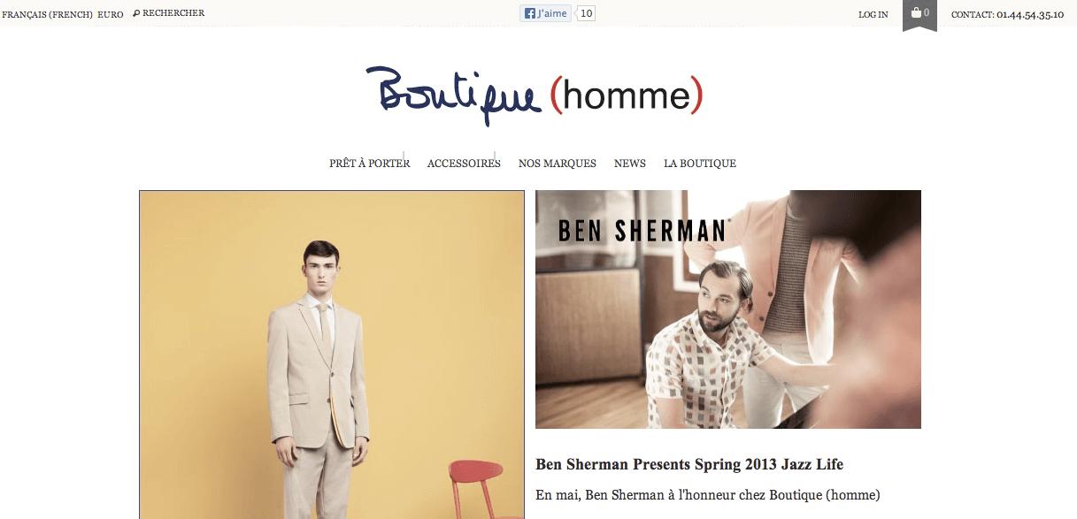 Interview – Boutique (homme)